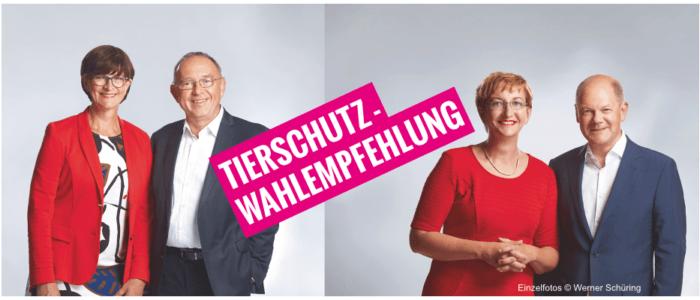 Die Tierschutz-Wahlempfehlung für sozialdemokratische Tierschützer*innen