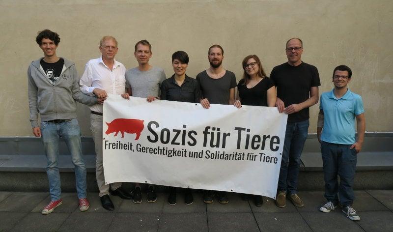 Die Gründungsmitglieder von Sozis für Tiere