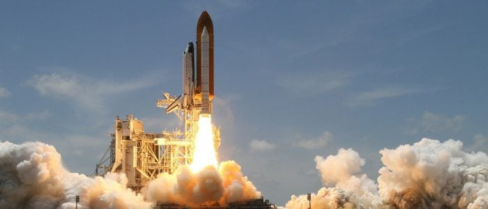Space Shuttle startet
