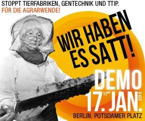 Wir haben es satt!, Demo am 17.01.2015 in Berlin